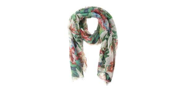 Dámska pestrofarebná šatka s kvetinovým motívom Valentina Italy