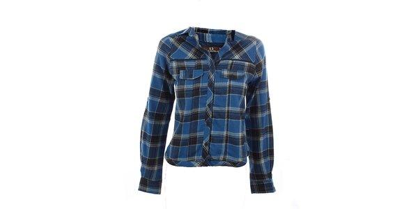 Dámska modrá kockovaná košeľa Tantra