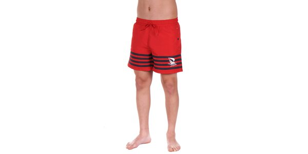 Pánske červené plavky s prúžkami Giorgio di Mare
