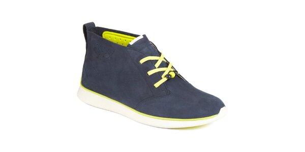 Dámske tmavomodré semišové topánky Clarks
