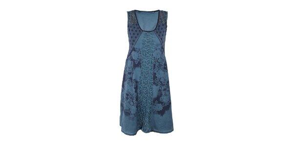 Dámske modré šaty so širokou sukňou Angels Never Die