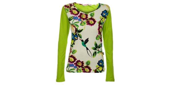 Dámske zelené tričko s dlhým rukávom Savage Culture