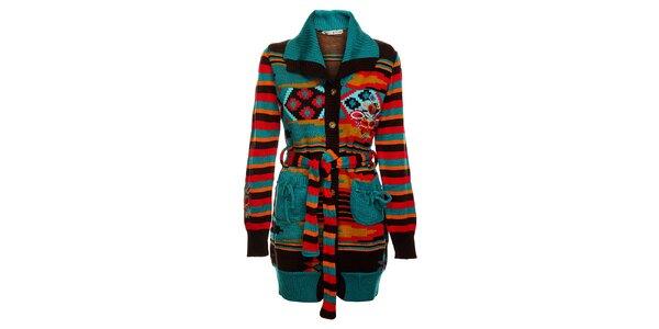 Dámsky farebný pletený kabát Savage Culture
