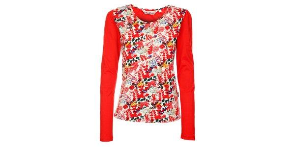 Dámske žiarivé červené tričko s dlhým rukávom Savage Culture