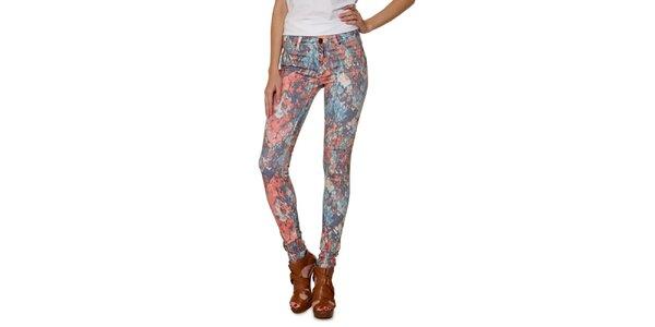 Dámske pestrofarebné úzke džínsy Fiveunits