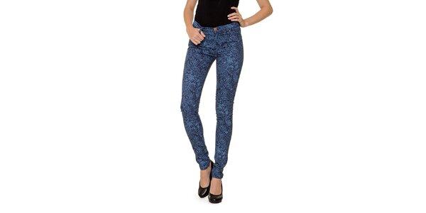 Dámske modré vzorované džínsy 2nd One