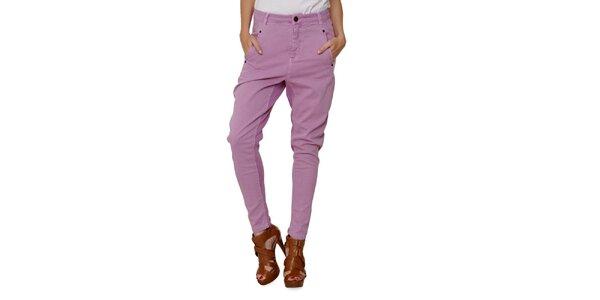 Dámske ružovofialové nohavice Fiveunits