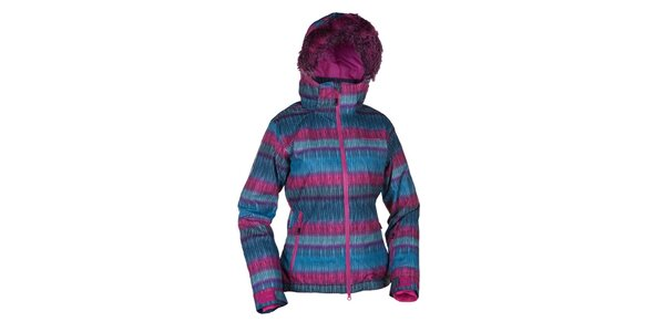Dámska modroružová lyžiarska bunda Envy