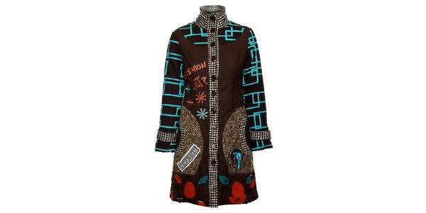 Dámsky originálny hnedý kabát Savage Culture