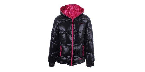 Dámska obojstranná ružovo-čierna zimná bunda Envy