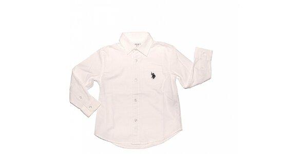 Detská biela košeľa U.S. Polo