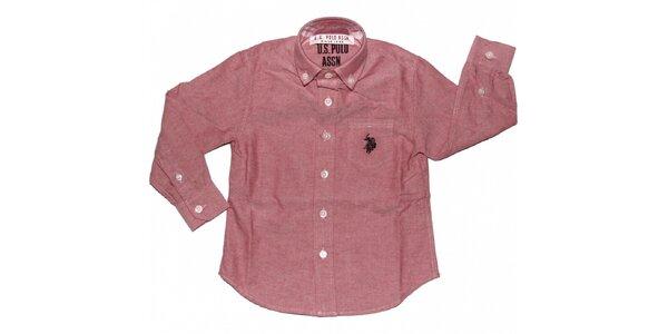 Detská ružová košeľa U.S. Polo