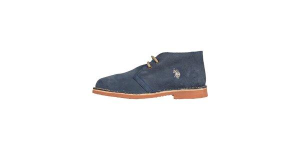 Dámske džínsove modré šnurovacie topánky U.S. Polo