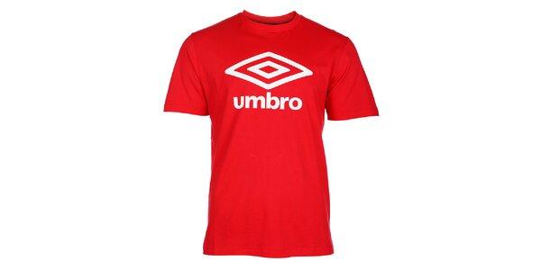 Pánske červené tričko Umbro s bielym logom