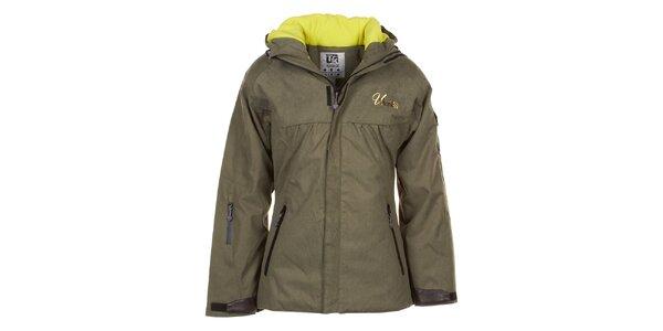 Dámska lyžiarska bunda vo farbe khaki Utopik