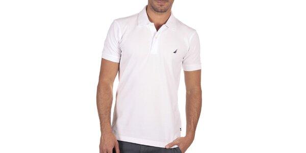 Pánske biele polo tričko s krátkym rukávom Nautica