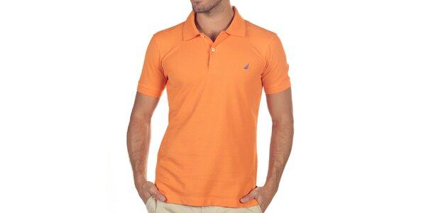 Pánske oranžové polo tričko Nautica