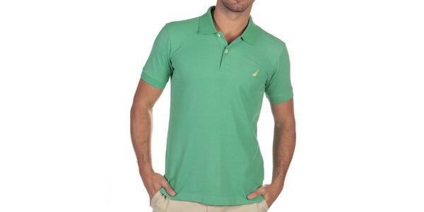 Pánske smaragdové polo tričko Nautica