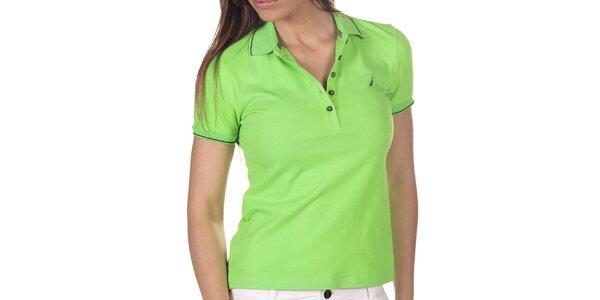 Dámske zelené polo tričko s krátkym rukávom Nautica