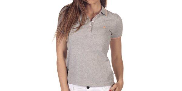 Dámske šedo melírované polo tričko s krátkym rukávom Nautica