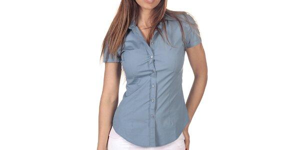 Dámska svetlo modrá košeľa s krátkym rukávom Nautica