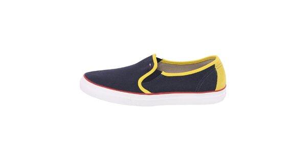 Pánske nazúvacie topánky so žltými prvkami Tommy Hilfiger