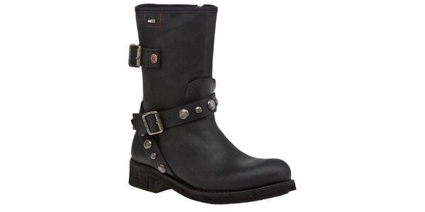 Dámske čierne topánočky s cvokmi Tommy Hilfiger