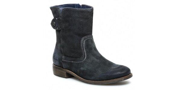 Dámske šedé členkové topánky so zipsom Tommy Hilfiger