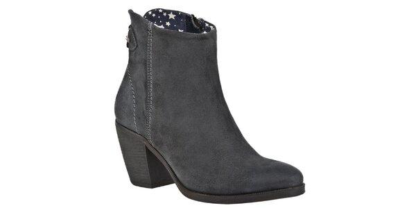 Dámske šedé členkové topánky Tommy Hilfiger