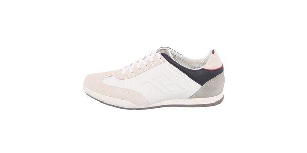 Pánske béžovo-biele tenisky s tmavými prvkami Tommy Hilfiger