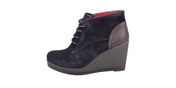 Dámske tmavo modré topánky na platforme Tommy Hilfiger