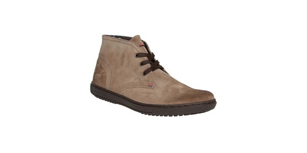 Pánske hnedé prešívané členkové topánky Tommy Hilfiger
