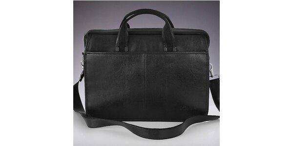 Pánska čierna taška cez rameno Solier
