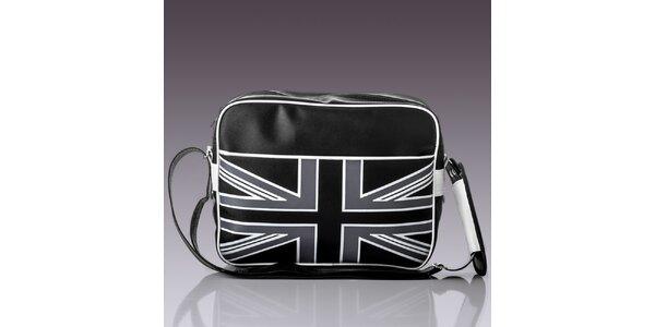 Pánska taška s čierno-bielou zástavou Solier