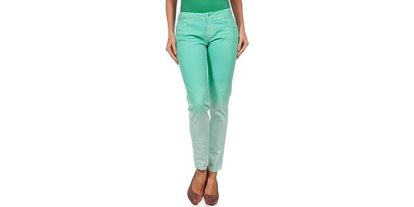 Dámske zelené dúhové nohavice Guess by Marciano