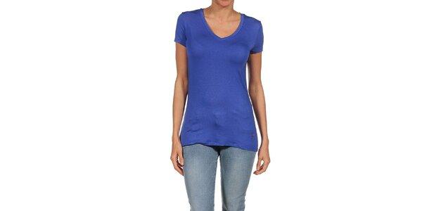 Dámske modré splývavé tričko Guess by Marciano