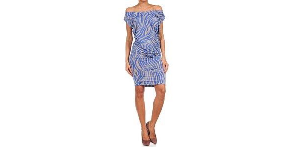 Dámske modro-béžové šaty Guess by Marciano