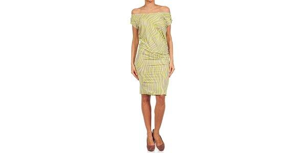 Dámske limetkovo-béžové šaty Guess by Marciano