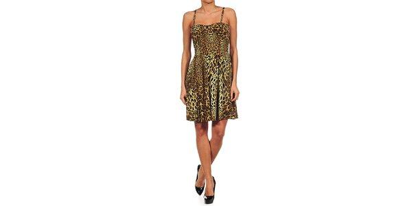 Dámske leopardie koktejlové šaty Guess by Marciano
