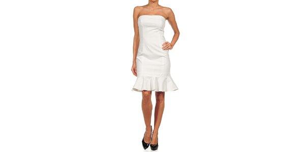 Dámske biele šaty s volánom Guess by Marciano