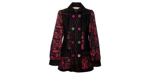 Dámsky krátky čiernočervený kabátik Savage Culture