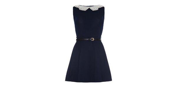 Dámske šaty s perlovým golierikom Iska