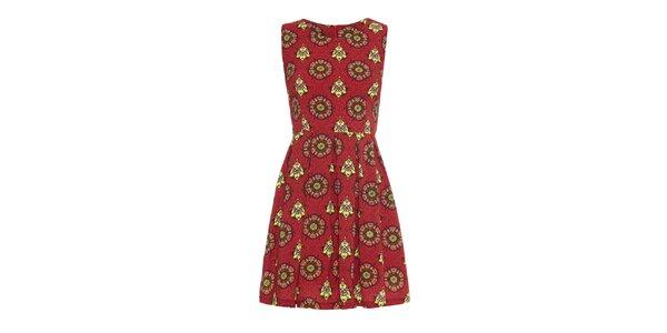 Dámske šaty s farebnými vzormi Iska