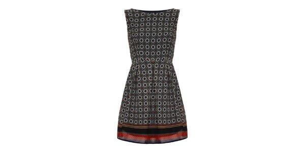 Dámske olivové vzorované šaty Iska
