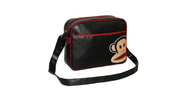 Čierna taška s trblietavými detailmi Paul Frank