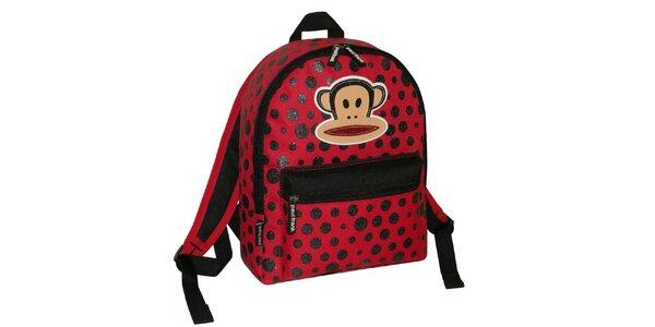 Červený ruksak s bodkami Paul Frank
