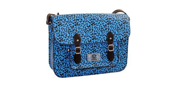 Modrá aktovka s leopardím vzorom Paul Frank