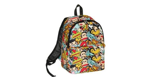Pestrofarebný komiksový ruksak Paul Frank