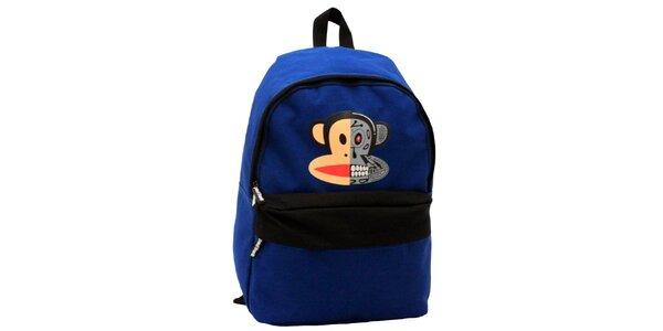 Modrý ruksak s opičou hlavou Paul Frank