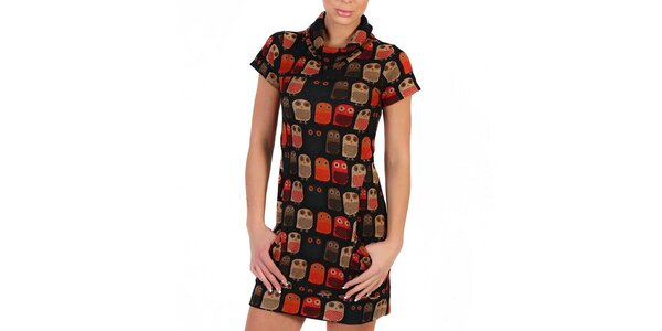 Dámske rolákové šaty s postavičkami Peper Tree